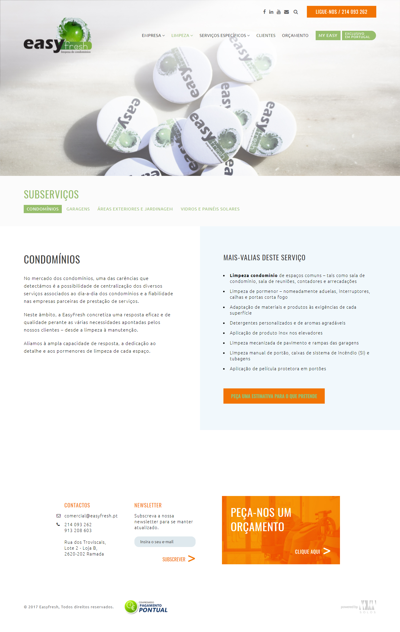 EasyFresh | Website responsive